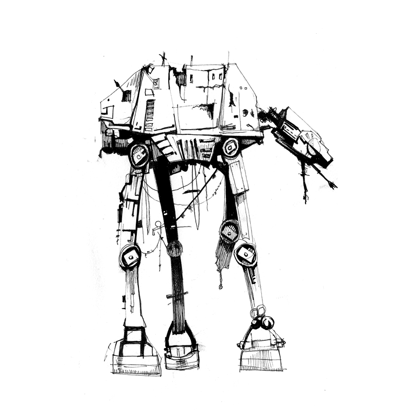 Imperial At-At Walker Sketch