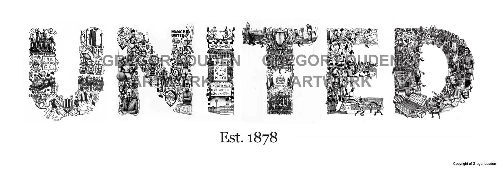 Manchester United Tribute Art Louden Creative Illustration Design Buy Art Online
